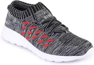REFOAM Men's Grey & RED Mesh Running Sport Shoes
