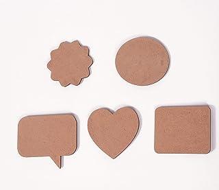 IVEI DIY MDF Wood Sheet Craft Magnet - Plain MDF Fridge Magnet Blanks Cutouts - Set of 20 Mix Shaped Magnets for Painting ...