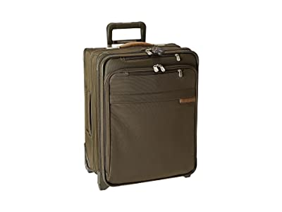 Briggs & Riley Baseline International Carry-On Wide Body Upright (Olive) Carry on Luggage