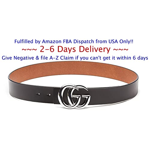 93d03ce222d (2-7 Days Fast USA Deliver Guarantee Fulfilled by Amazon) Silver Buckle  Style