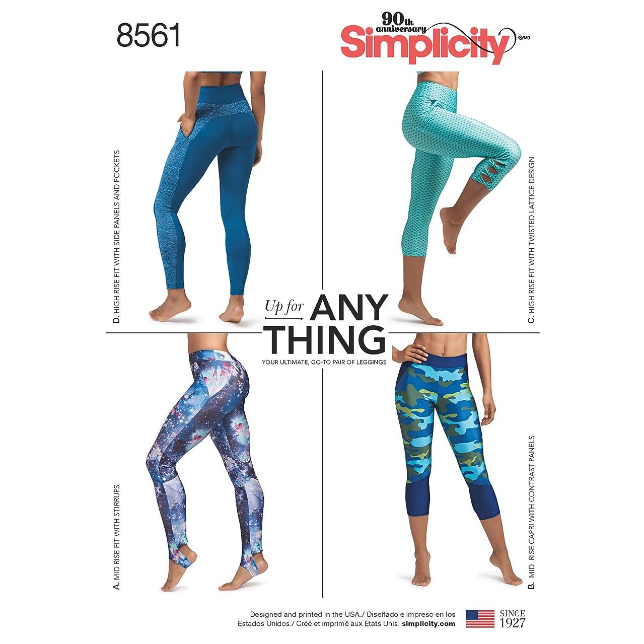 Simplicity Creative Patterns Misses' & Women's Leggings Pattern, BB (1x-5x)