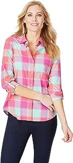 Foxcroft Women's Reese Multi Buffao Sun Protection UPF Shirt
