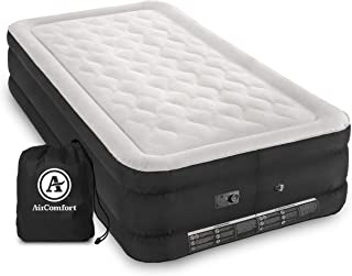 Air Comfort Deep Sleep Inflatable Air Mattress: Raised-Profile Bed with Internal Air Pump
