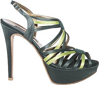 d04304444 Albano 6001 Italian Womens Green Buckled Sandals with Swarovski Element
