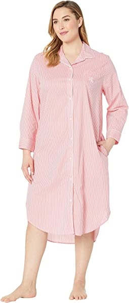 Plus Size Long Sleeve Ballet Sleepshirt