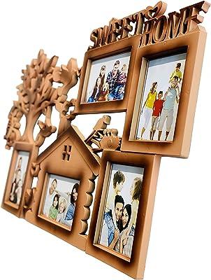 Steven Quartz Designer Sweet Home Collage with 5 Photo Frames (Wooden)