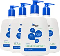 Mountain Falls Daily Facial Cleanser for Normal to Oily Skin, Phthalate Free, Pump Bottle, 16 Fluid Ounce (Pack of 4)