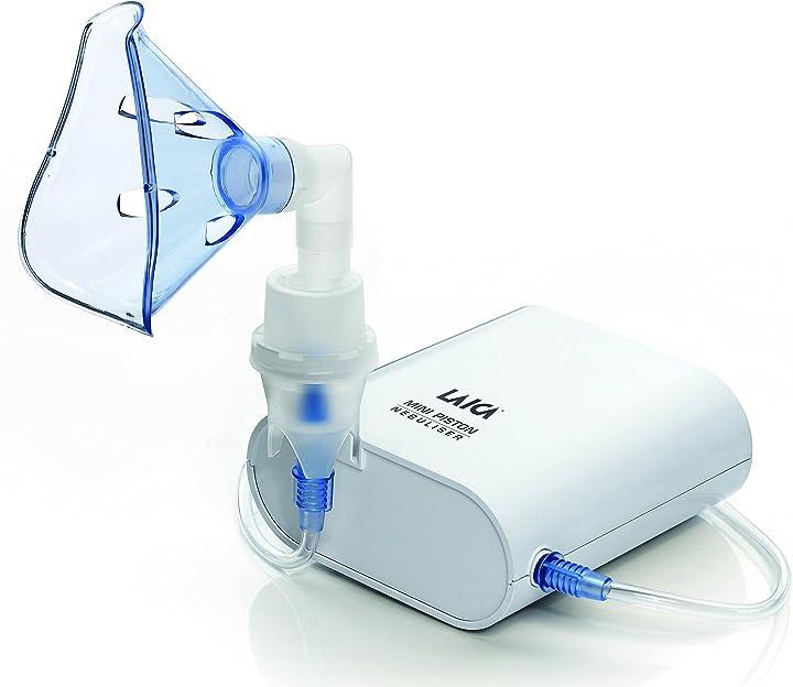 Aerosol mini a pistone portatile per adulti e bambini, bianco laica ne3001