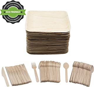 Party Pack of 200 Eco Friendly Dinnerware Set: 50 10