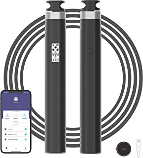 Jump Rope, can be connected to a mobile phone to analyze exercise data, LCDB backlight display, adjustable length, support USB charging, PVC + steel wire, very suitable for aerobic exercise