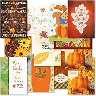 Faith Thanksgiving Greeting Cards Value Pack - Set of 12 (12 Designs), Large 5