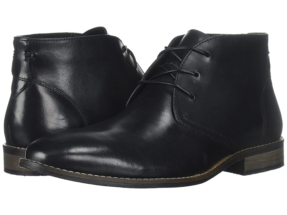 Nunn Bush Hatch Plain Toe Chukka Boot (Black) Men