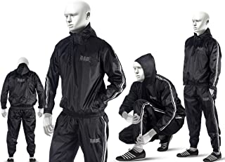 RAD Sauna Suit Men Women Weight Loss Jacket Pant Gym Workout Sweat Suits with Hood
