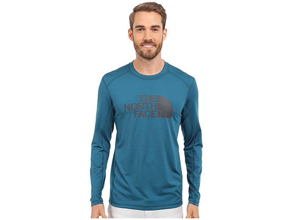 The North Face Long Sleeve Sink or Swim Rashguard (Blue Coral/Asphalt Grey (Prior Season)) Men
