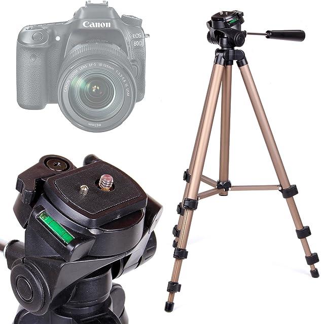 DURAGADGET Trípode con Nivel De Burbuja para Cámara Canon EOS 1300D / Rebel T6 - Profesional
