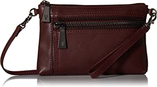 FRYE womens Lena Zip Leather Crossbody Wristlet Bag