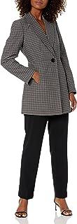 Le Suit Women's Two Button Glen Plaid Pant Suit