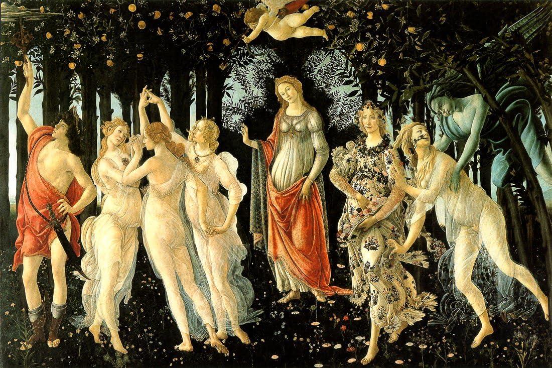 Sandro_Botticelli_ 1478 贈物 _La_Primavera - CANVAS ART OR PRINT WALL お中元