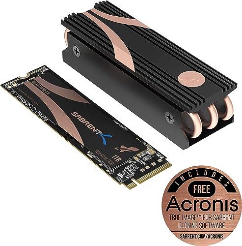Sabrent Disque SSD SSD Haute Performance Interne (NVMe PCIe M.2 2280) 1TB PCIe 4.0 + Dissipateur