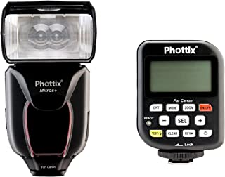 Phottix PH80375 Mitros+ Odin V1.5 Camera Flash & Transmitter Combo for Canon (Black)