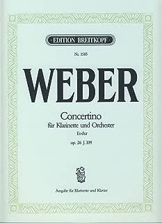 WEBER - Concertino Op.26 en Mib Mayor para Clarinete y Piano (Hausswald/Hermann)