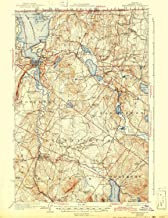 YellowMaps Memphremagog VT topo map, 1:62500 Scale, 15 X 15 Minute, Historical, 1925, Updated 1943, 20.4 x 15.7 in