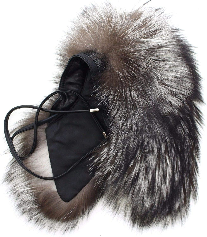 Coach 83189 Women's Natural Silver Fox Fur Tie Scarf Collar Stole