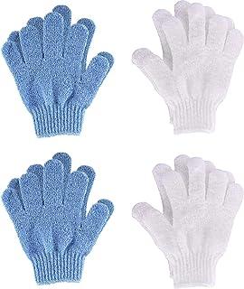 Exfoliating Gloves Body Scrub Gloves Shower Scrub (Blue &