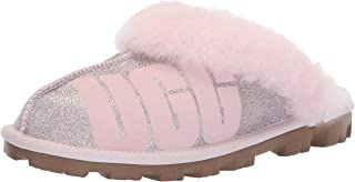 UGG 女士 W Coquette Sparkle 拖鞋 Seashell Pink 10 M US