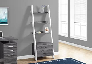 Monarch Specialties I I 2756 Bookcase, Grey/White