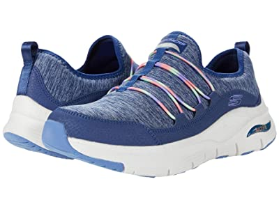 SKECHERS Arch Fit Rainbow View (Navy Multi) Women