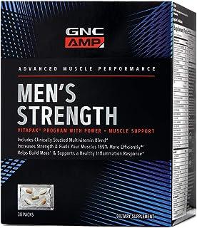 GNC AMP Men's Strength Vitapak, 30 Packs, Increases Strength and Helps Build Mass