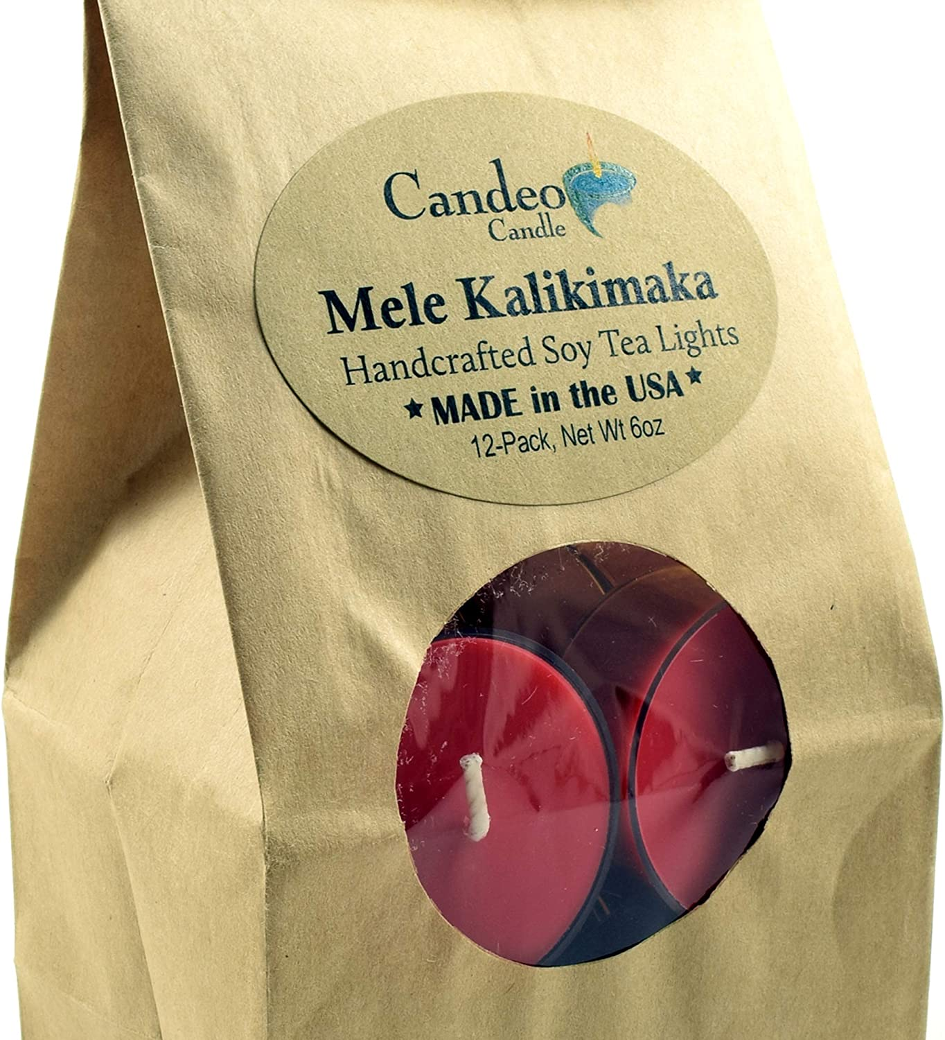 Mele Kalikimaka Holiday Scented Soy Pack Tealights Clear Cu Bargain All items in the store 12