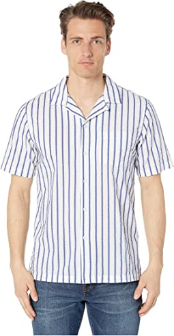Short Sleeve Boucle Stripe Barre