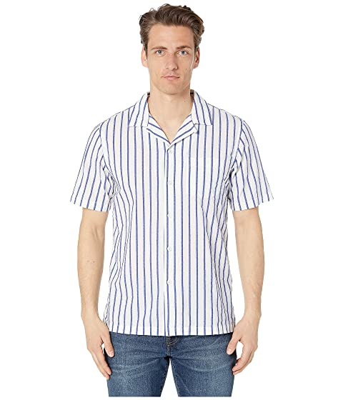 Todd Snyder Short Sleeve Boucle Stripe Barre