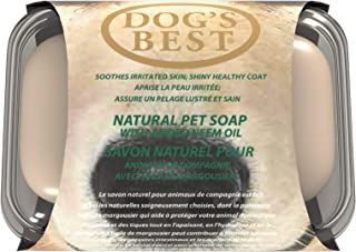 Dog's Best Natural Neem Oil Bar Soap 100g | Assist with skin issues | Pet Odour Eliminator & Deodoriser | Ensures Glossy a...