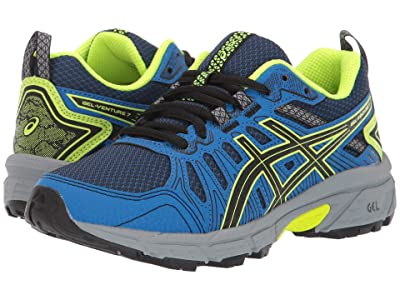 ASICS Kids GEL-Venture 7 (Little Kid/Big Kid) (Black/Safety Yellow) Boys Shoes