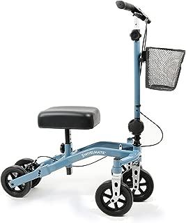 Swivelmate Knee Walker by TKWC INC, Steerable 90 Degree Turning Radius, Premium Quality, Extra Thick Knee Pad, 5-Wheel Stable Design - Knee Scooter Crutch Alternative