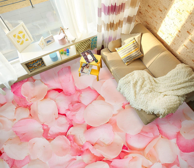 3D Pink Petals 6847 Floor Wallpaper Print Wall AJ Cheap mail order specialty store Decal W Popular overseas Murals