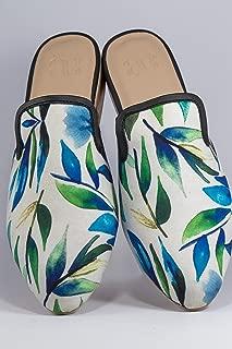 AESCA Womens Lawig Mules Handmade Slides Tropik Collection Flats Summer Shoes