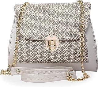 UrBaazar Women's Faux Leather Sling Bag (Cream)-PID36250