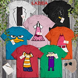 Perry Squad Costume Phineas-Ferb Group Costume Halloween Friends BFF Family Cosplay Outfit T-Shirt | Hoodie | Tank Top | Sweatshirt | Long Sleeve