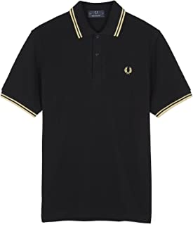 Twin Tipped Polo Shirt, Black/Champagne - Imperial Size 40