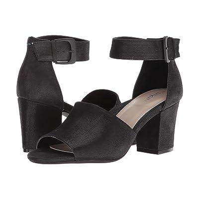 Tahari Pennie (Black Shimmer Suede) High Heels