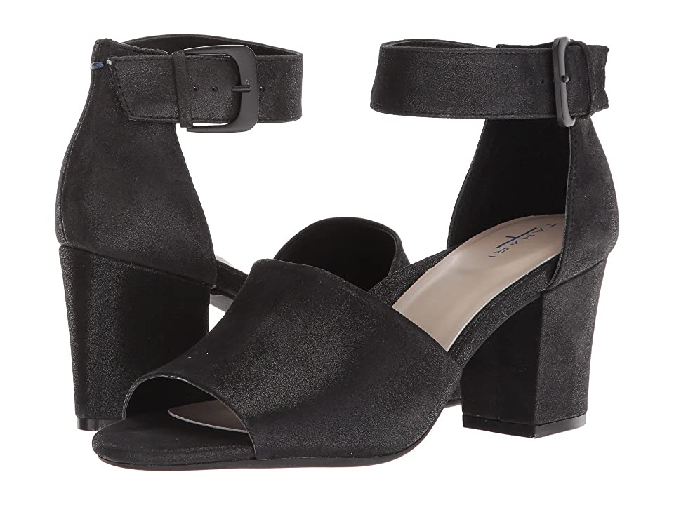 Tahari Pennie (Black Shimmer Suede) High Heels