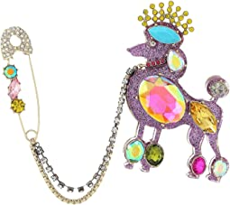 Betsey Johnson Multi Poodle Pin