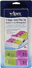 Carex Health Brands 7-Day AM-PM XL Detach N' Go Pill Organizer