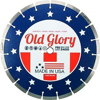 12-Inch Made in USA Old Glory Diamond Blade General Purpose, Brick, Block, Concrete