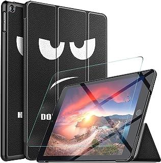 GesMa ipad 10.2 ケース ipad 第七世代ケース ipad 10.2 2019 ガラスフィルムケース iPad 10.2インチ 2019新モデル カバーケース 極薄 超軽量 傷つけ防止 耐久性 スマイリー