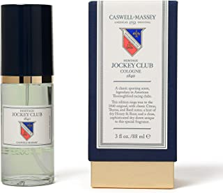 Caswell-Massey Heritage Jockey Club Cologne - New Formula of Jockey Club Fragrance For Men Infused With Scents of Citrus, Thyme, Honey, and Rose - 88 ml
